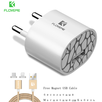 FLOVEME Magnetic USB Cable Charger For iPhone 7 Plus iPad Magnet Charger Free Micro USB Cable For Samsung Huawei Android Phone
