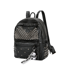 New Arrival 2019 Fashion Women PU leather Backpack Preppy Rivet School Bags Ladies Small Backpack Traveling Backpack