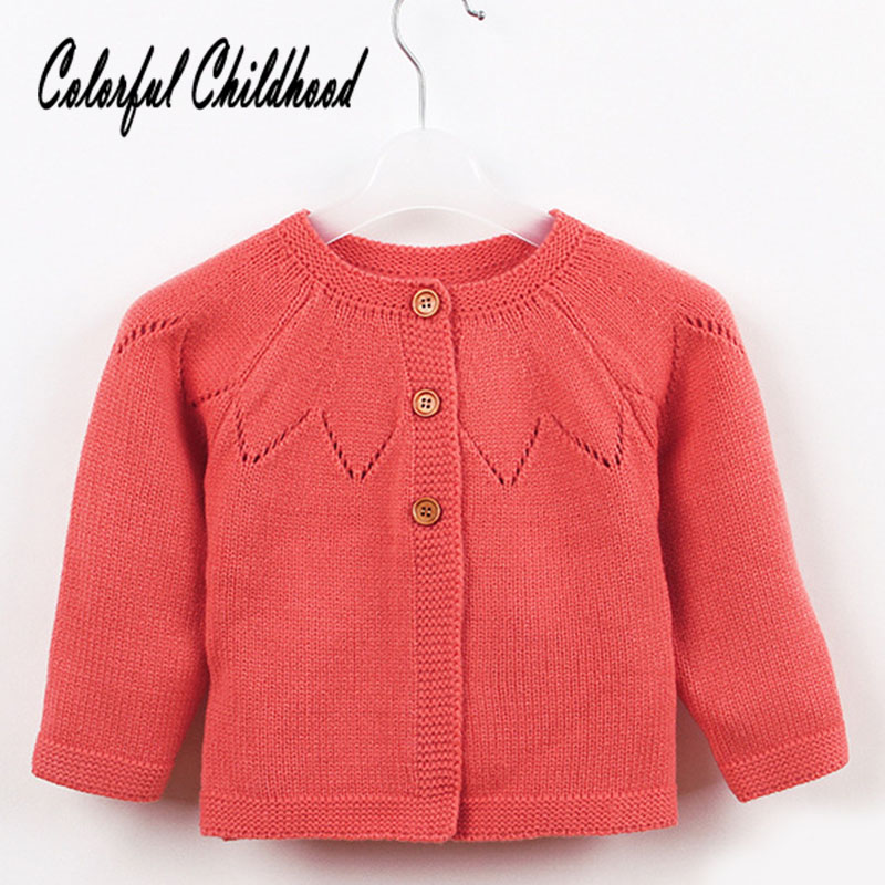 Baby Sweater Autumn Style Pure Color Long Sleeve Knitted Cardigan Baby Costume Infant Newborn Knitted Tops Cardigan kid Clothes