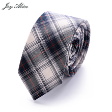 England stle Cotton  ties for men Custom made Brand name Checked Slim Mens neckties For gift suit accessories Gravata