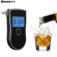 SUGERYY High Precision Alcohol Tester LCD Display Screen Detachable Mouth Piece Digital Breath Alcohol Detector Audible