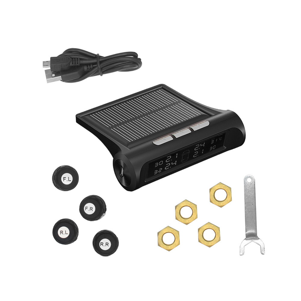 IZTOSS Car Wireless Tire Tyre Pressure Monitoring System Solar font b TPMS b font LCD Display
