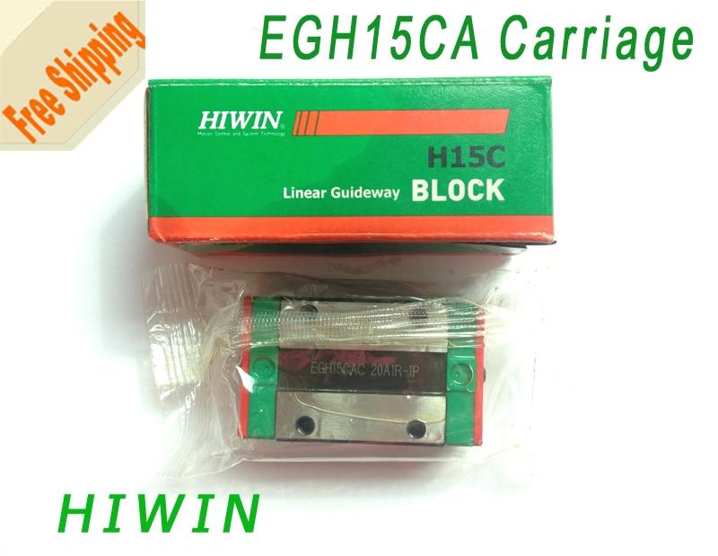 ФОТО Free shipping-2pcs HIWIN Bearings Linear Guide Block  EGH15CA  Taiwan HIWIN Carriage Slide