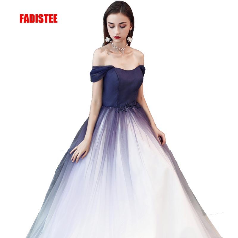 FADISTEE New arrival evening elegant prom dresses Vestido de Festa gown Robe De Soiree gradual change