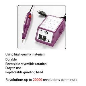 Image 3 - 20000RPM elektrikli manikür makinesi seti jel tırnak eti çıkarıcı tırnak matkap ucu freze zımpara tırnak törpüsü manikür aparatı