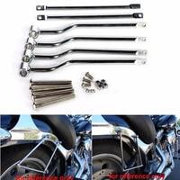Motorcycle Universal Saddlebag Support Bars Brackets for HARLEY HONDA SUZUKI YAMAHA KAWASAKI TRIUMPH