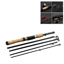1.8M Telescopic Rod Hard Ultra-light  Fishing Tackle Carbon Fiber 5 Segments Travel Spinning Lure Fishing Rod with Fishing Bag