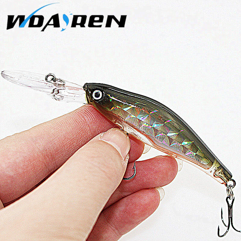 Laser Sinking Slowly Minnow Fishing Lure 8.5CM 6.5G Wobbler Artificial Fly Fishing Hard Bait Carp Crankbait Fishing 1PCS FA-215 laser fishing minnow lure crankbait tackle 9cm 7 2g hard artificial bait type treble hook carp lure