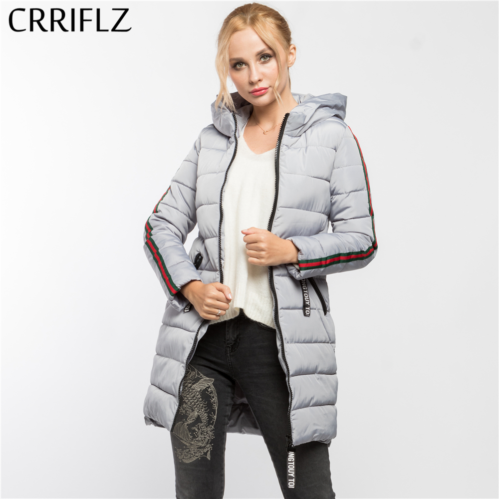 CRRIFLZ Winter Clearance High Quality Warm Winter Jacket Women Hooded Coat   Parkas   Female Outerwear