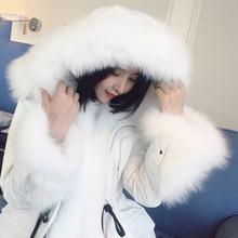 2016 new hot winter Thin Warm woman Down jacket Coats Parkas Outerwear Hooded fox Fur collar long plus size 2XXL Brands Cold