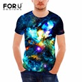 FORUDESIGNS Man Clothes 2017 3D Galaxy Universe Space Printing T-shirt Fitness Cotton T Shirt Short Sleeve Mens t Shirt Tops Tee
