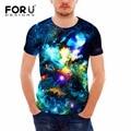 FORUDESIGNS Man Clothes 2017 3D Galaxy Universe Space Printing T-shirt Fitness Cotton T Shirt Short Sleeve Mens t Shirt Tops Tee
