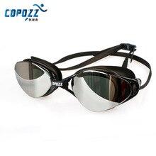 Copozz Men Women Swimming Goggles Adjustable Plating Glasses Shockproof Anti-Fog UV Waterproof Silicone Adult Eyewear 5 Colors