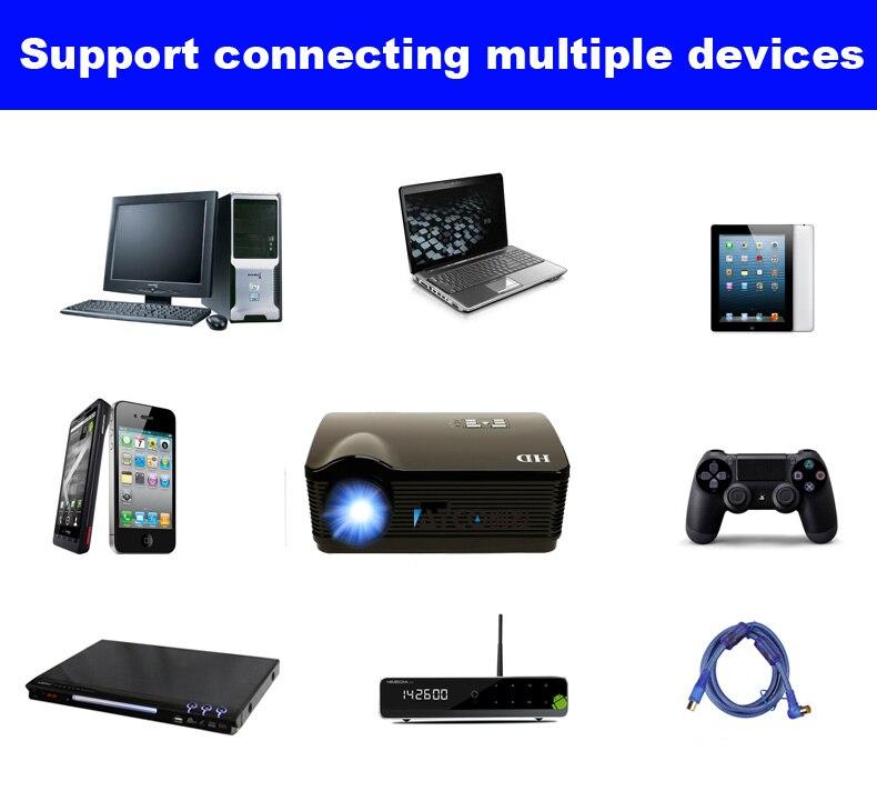 Oley 1080 p hd led proyector android wifi hdmi dvb-t tv digital proyector de cin