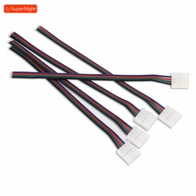 4 Pin Connector Wire Connecting Line with Clip Non-waterpoof Extension Cable for SMD 5050 3528 Flexible RGB LED Strip Lights 1 100 meters 2pin 3pin 4pin 5pin extension wire led cable connector for 5050 3528 ws2812b led stirp light