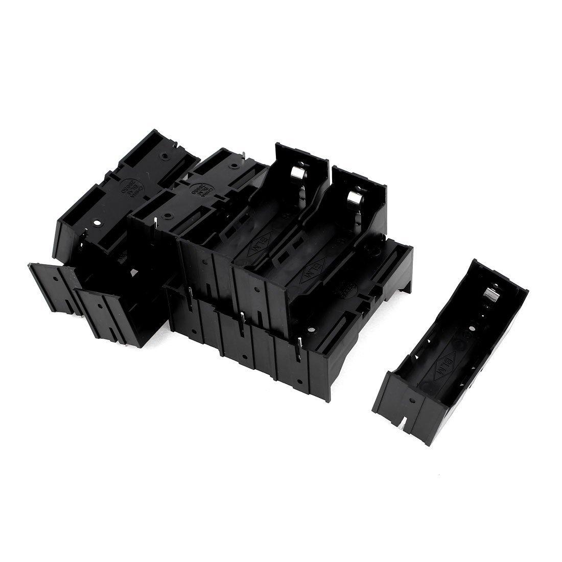 EDT-En Plastique Unique 26650 Batterie Titulaire Cas Boîte De Rangement 10 Pcs Noir