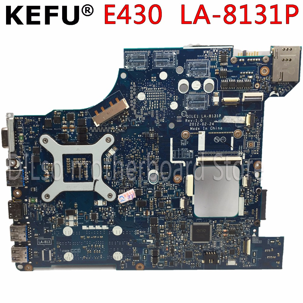 где купить KEFU LA-8131P motherboard for QILE1 LA-8131P E430 laptop motherboard notebook HM77 mainboard Test motherboard дешево