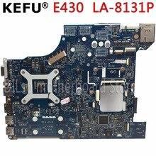 цена на KEFU LA-8131P motherboard for QILE1 LA-8131P E430 laptop motherboard notebook HM77 mainboard Test motherboard
