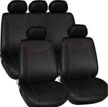 Car Accessories 9PCS Set Black Universal Seat Covers New Design Polyester 3MM Composite Sponge cases 2017