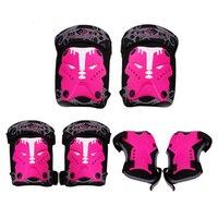 6 Unids/set Niños Deporte Protectora Codo Rodilla Pads Set Muñeca Cuerpo Set Equipo de Protección de Patinaje Bicicleta Accesorios Para Bicicletas