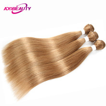 Addbeauty 27 Color Honey Blonde Bundles Straight Brazilian Human Remy Hair Pre-colored Weave Extension Inch Double Weft(China)