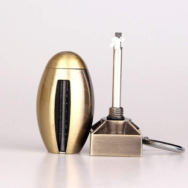 Portable Flint Fire Starter Shell Matches Bottle Shaped Survival Tool Lighter Kit for Outdoor NO OIL
