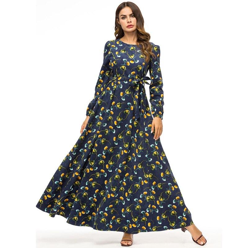 47f14cb71d2bc US $32.12 49% OFF|Winter Abaya Dubai Hijab Dress Vestidos 2018 Floral  Velvet Turkey Arabic Muslim Dresses Qatar UAE Robe Turkish Islamic  Clothing-in ...