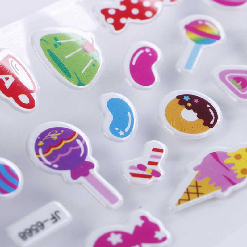 8 teile/los Blätter Aufkleber Nette Cartoon Süßigkeiten Lebensmittel Kinder Aufkleber für Kinder Spielzeug Schaum Lustige Aufkleber Gommettes Pour Enfants Stiker