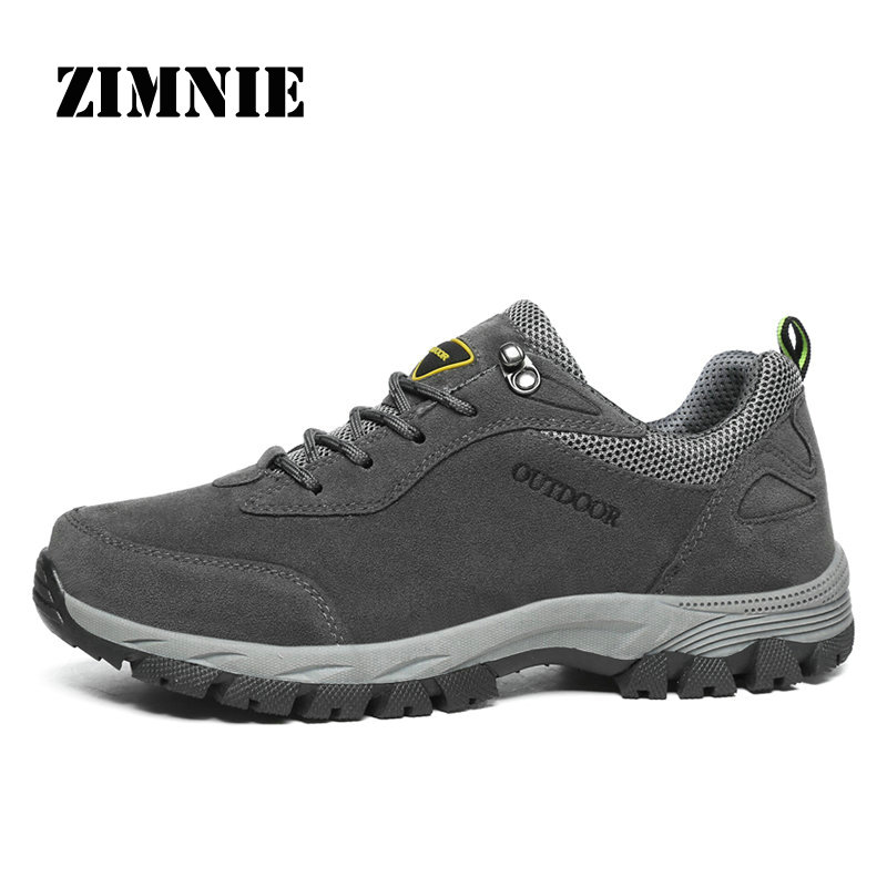 ZIMNIE Outdoor Hiking Shoes Walking Men Climbing Shoes Sport Sneakers Hunting Mountain Shoes Non-slip Breathable Hunting Shoes outdoor hunting shoes for men waterproof winter sneakers men increased internal non slip hunting camping shoes hiking boots