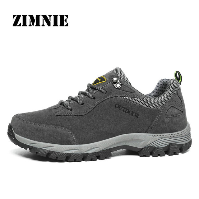 ZIMNIE Outdoor Hiking Shoes Walking Men Climbing Shoes Sport Sneakers Hunting Mountain Shoes Non-slip Breathable Hunting Shoes