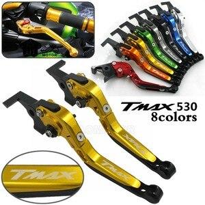 Мотоцикл CNC алюминиевый складной выдвижной тормозной клатч с логотипом TMAX для YAMAHA T-MAX/TMAX 500/530 TMAX530 TMAX500