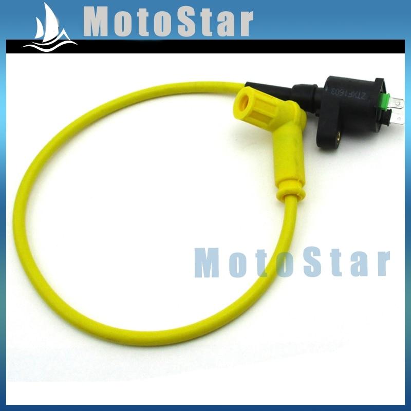 Гоночная желтая Катушка зажигания для Pit Dirt Bike 50cc 90cc 110cc 125cc 140cc 150cc 160cc SSR YCF Pitsterpro Thumpstar CRF50 KLX110