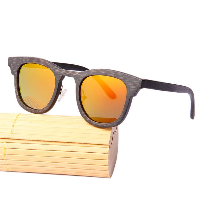 Angcen Retro Wooden Sunglasses Men Polarized Brand Sports goggle Wood Sun Glasses Brand Round Bamboo Sunglass Eyewear with Case