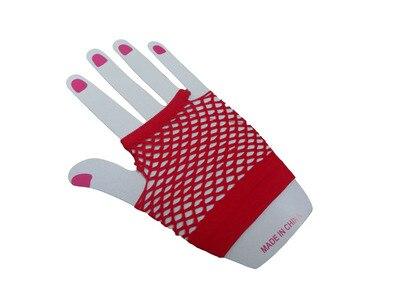 Горячие девушки сексуальные хип-хоп панк сетчатые красные перчатки для ночных клубов - Цвет: Серебристый