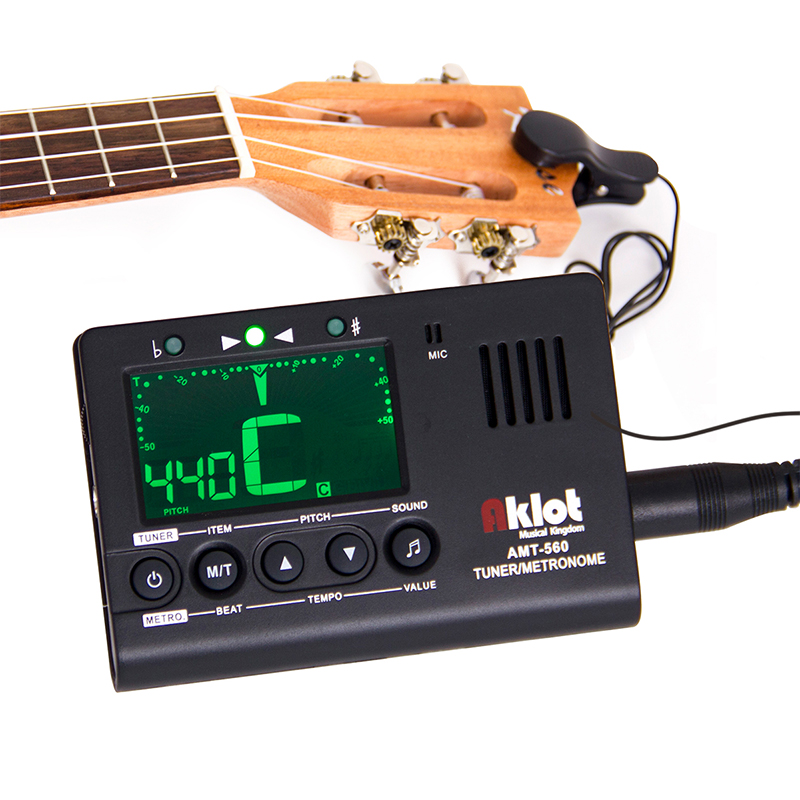 aroma amt 560 electric guitar tuner metronome built in mic with pickup for guitar chromatic bass. Black Bedroom Furniture Sets. Home Design Ideas