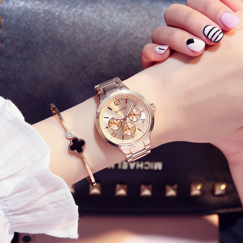 GIMTO Brand 2018 Fashion Bracelet Women Watches Luxury Steel Ladies Quartz Watch Waterproof Female Dress Clock relogio feminino 2017 luxury brand women watch stainless steel rhinestones bracelet quartz watches fashion ladies dress clock relogio feminino