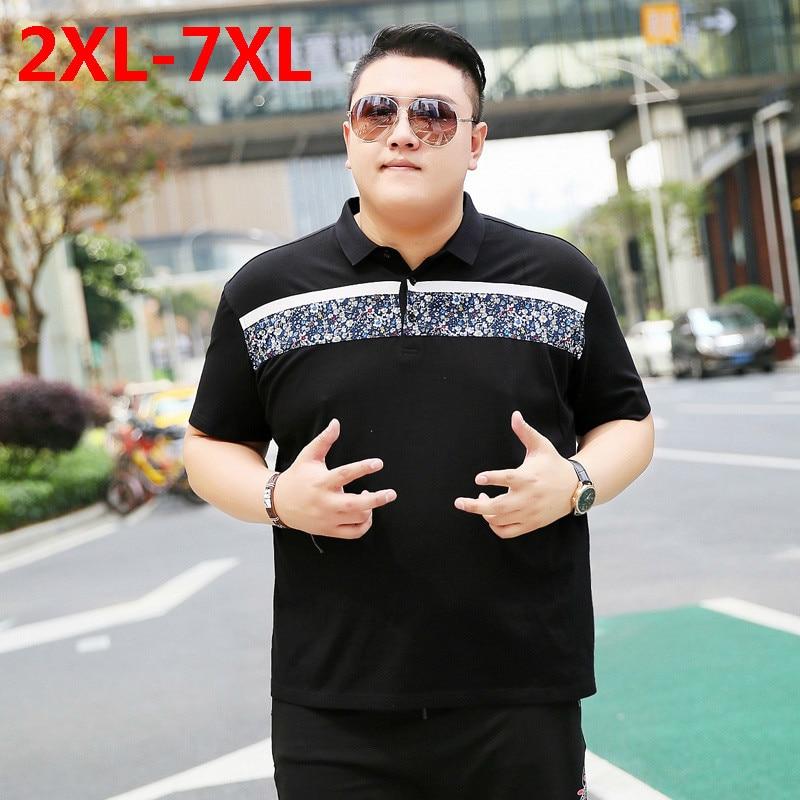 2018 New Plus Size 9xl 8xl 7xl 6xl 5xl Fashion Mens Dragon Ball Summer Brand Lapel Camisa Polo Homme Ralphmen Pol Shirt Polo