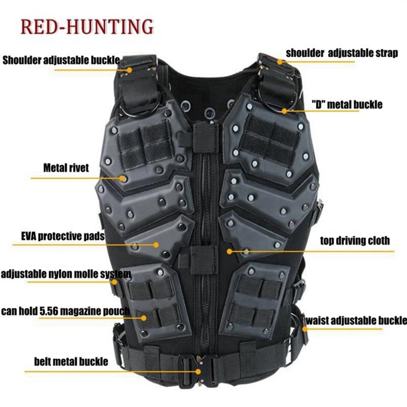 Molle Tactische Vest Combat TF3 Body Vest Protector Black Training Vest - 6