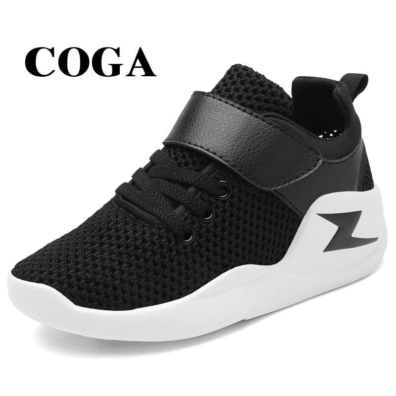 COGA Hot Sale 2017 Summer Mesh Children sneakers cowhide leather child casual shoes fashion sport shoes boys girls running shoes fashion handpainted palm sea sailing pattern hot summer jazz hat for boys
