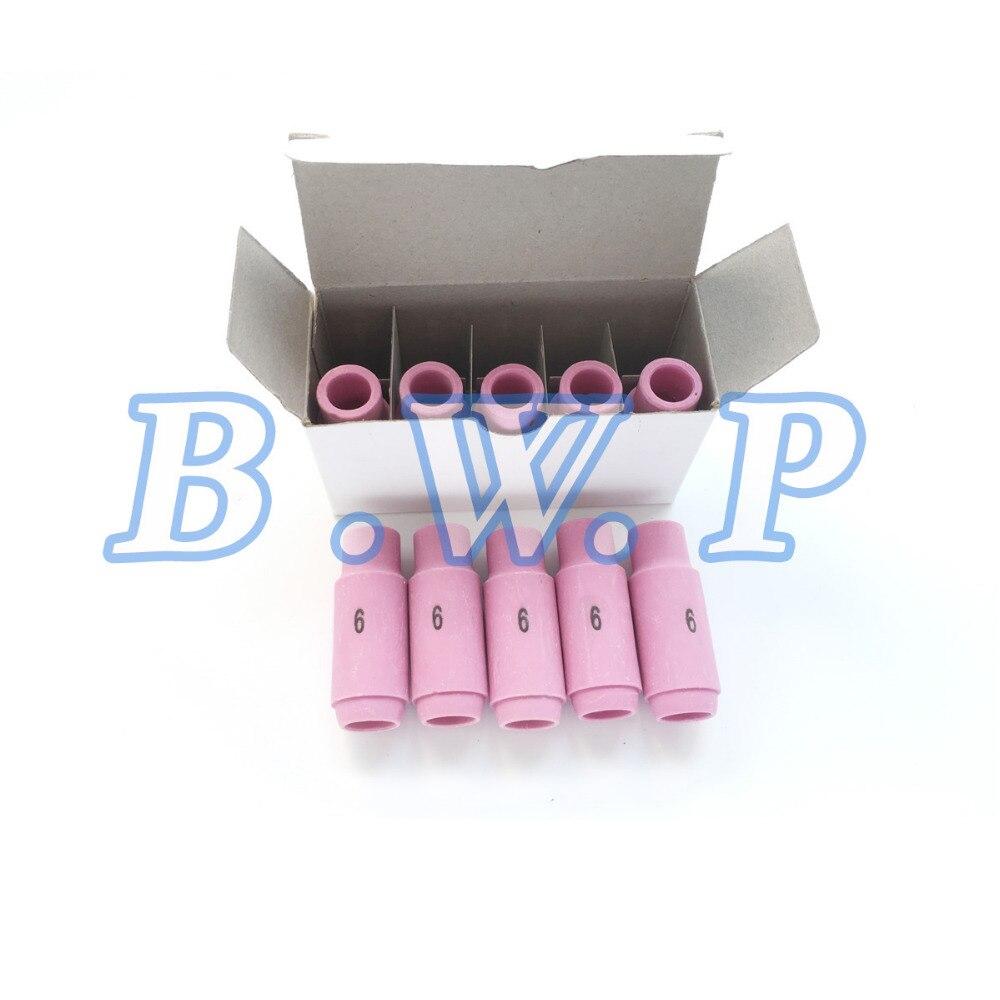 10N48 #6 TIG Nozzle Alumina Shield Cup For WP 17 18 26 TIG TIG-200P 10pcs