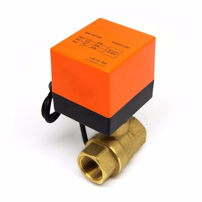 Air Conditioning Floor Heating Parts Miniature Electric Two-way Ball Valve Three-wire Two-control One-control Brass Water Heat