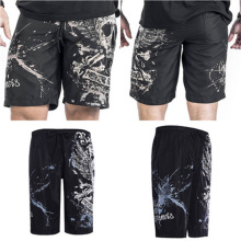 32dc61b688136 Beach Shorts Men Swimwear Liner Mesh Sweat Trunks Siwmsuits Sexy Black  Skull Mens Bathing Suits Quick