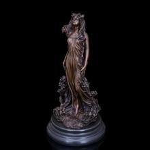 Modern Arts Very Beautiful Classical Lady Statue Bronze Sculpture Door to Holiday Gifts  STATUE SCULPTURECZS-016