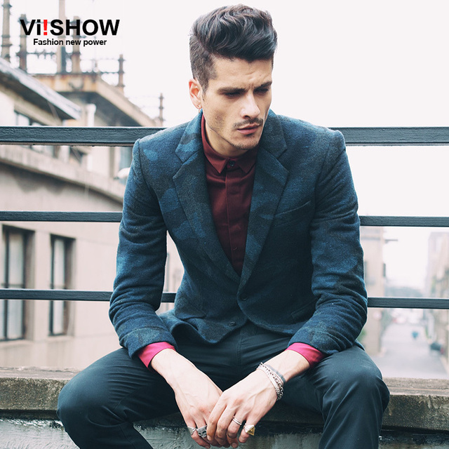 Viishow Chaqueta De Marca para hombre Slim Fit Trajes Chaqueta Masculina Traje chaqueta Blazer Escudo Solo Pecho blazers Hombres camoufalge