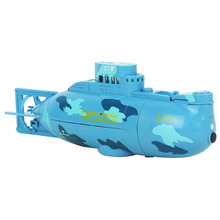 360 Degree Rotation Mini Remote Control RC Submarine Boat Toy for Lake Pool Blue