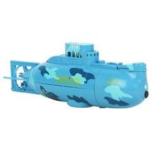 360 Degree Rotation Mini Remote Control RC Submarine Boat Toy for Lake Pool Blue 503a 360 degree rotation blue police car light for r c car blue white black