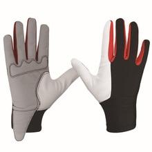 Купить с кэшбэком Boodun Riding Gloves Back of Lycra Palm Sheep Skin Ride Horse Equestrian Sports Gloves Men and Women