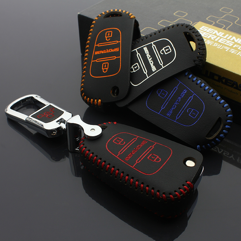 luckeasy top leather <font><b>key</b></font> case for <font><b>kia</b></font> <font><b>sportage</b></font> <font><b>2011</b></font> 2012 2013 2016 2017 car <font><b>key</b></font> cover image