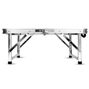 Image 3 - אלומיניום מתקפל קמפינג שולחן מחשב נייד מיטת שולחן מתכוונן חיצוני שולחנות מנגל נייד קל משקל פשוט גשם הוכחה GG