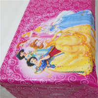 Happy Baby Shower Kids Favors Princess Cartoon Tablecover Birthday Party Events Decoration Maps Supplies Tablecloth 108*180cm 1p